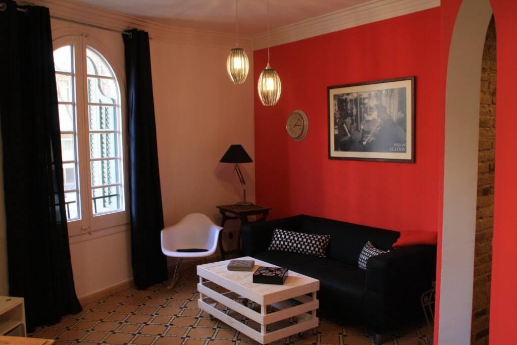 Zona Sala de Estar perspectiva | Living room zone perspective