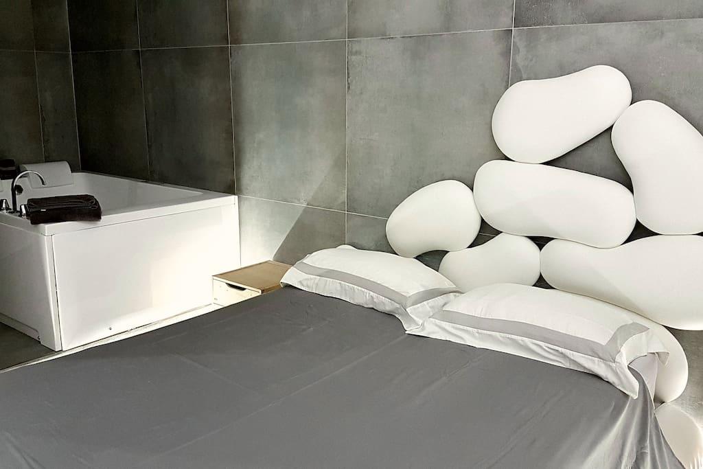 letto e vasca