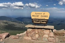 Did you know that the 14,260-foot peak of Mountain Evans is the highest paved road in North America?