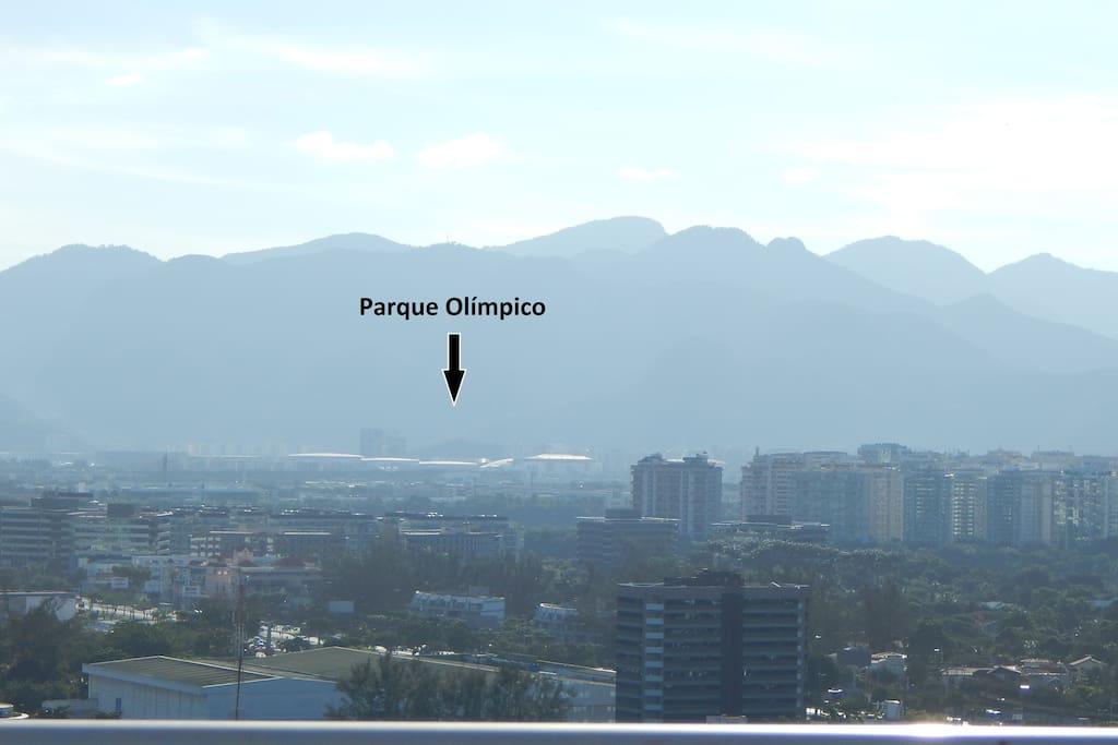 Vista da cobertura para o Parque Olímpico