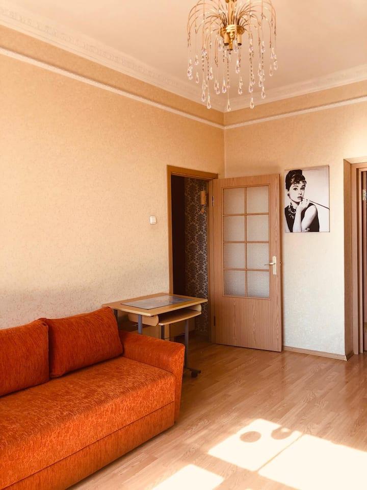 Nice flat, at silence place in Riga, 58 KV.