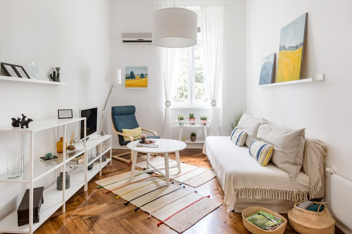 Updated Apartment in a Period Villa with Private Parking