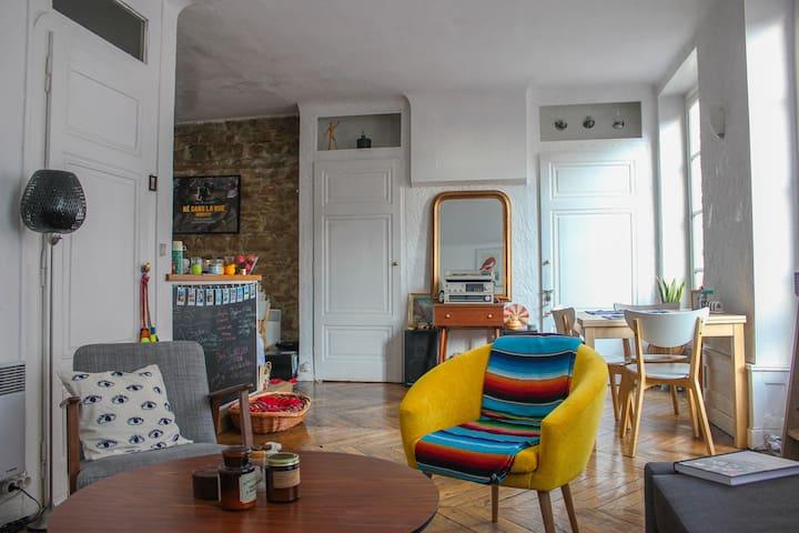 Charmant appartement plein centre - ลียง - อพาร์ทเมนท์