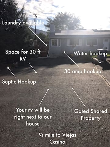 RV space on the Farm with Hookups