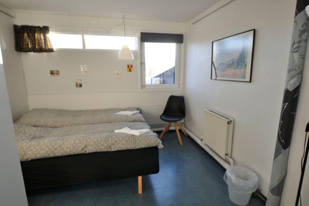 Et af to dobbeltværelser