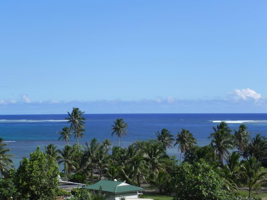 vue panoramique sur le lagon