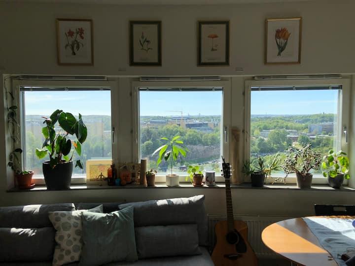 Central lägenhet med fantastisk utsikt av Göteborg
