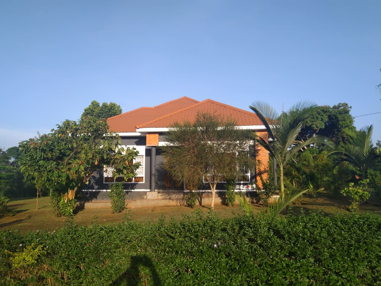 Front view of the house facing sunrise