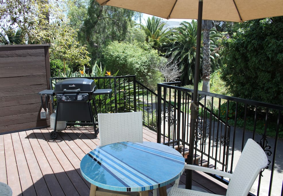 All new deck and new bbq with canyon view