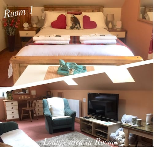Room 1 Large Double Ensuite with Lounge Area