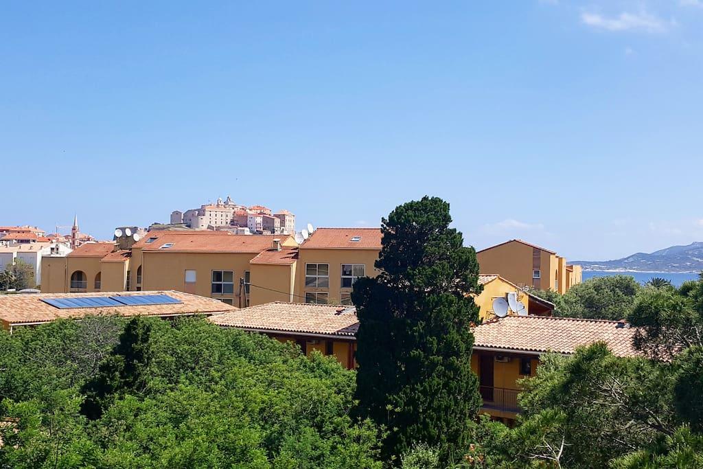 Vue de la terrasse sur la citadelle