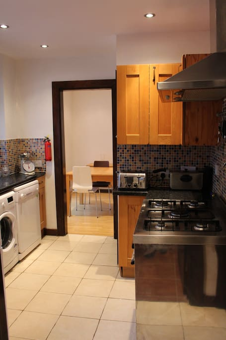 Kitchen with large oven