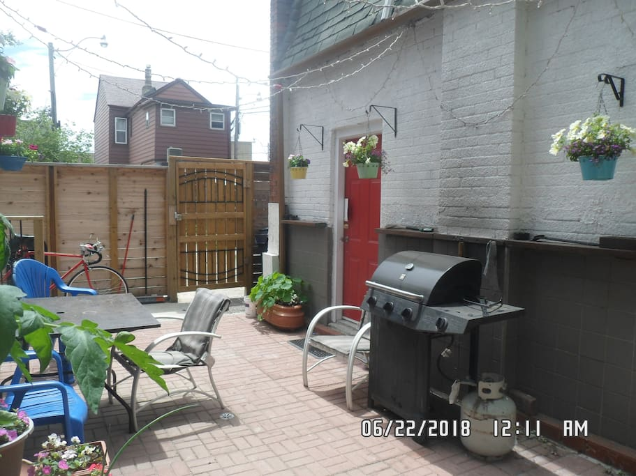 Back Yard with Bar-be-que.
