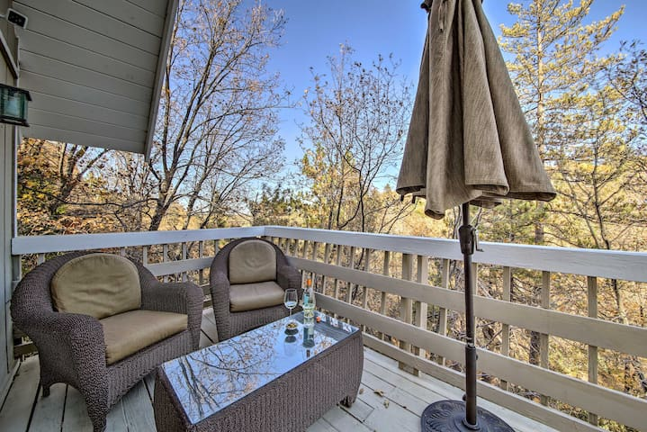 Sit outside and take in the views from this vacation rental.