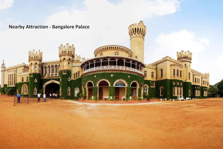 OYO - Best Deal! Spacious 1BR Home near Bangalore Palace (3.9km)