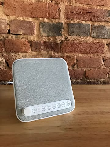 We know city living can be noisy so we provided a sound machine for you to use while you sleep!
