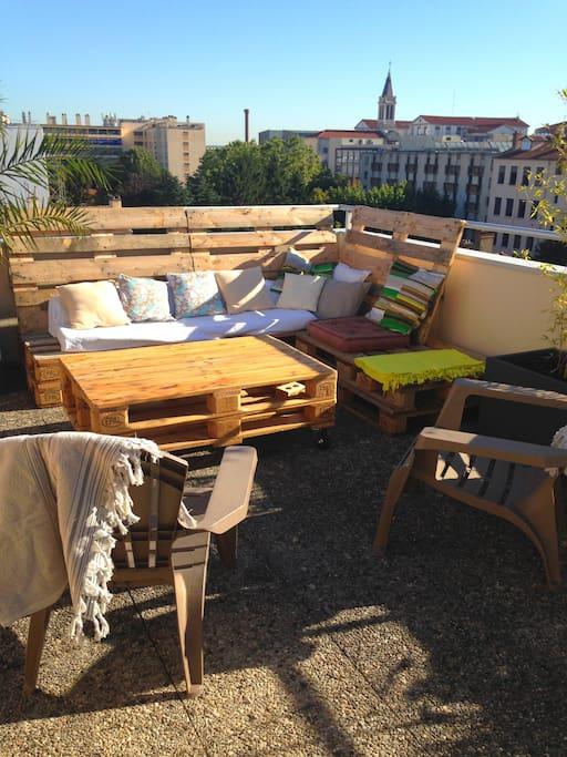 Terrasse: Espace Lounge