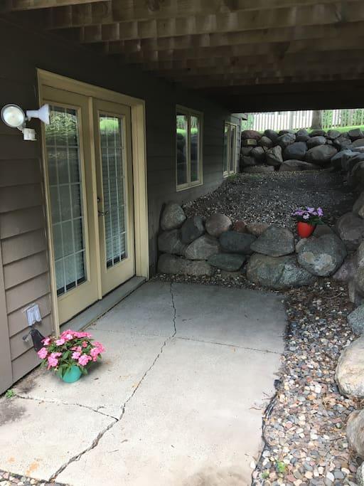 Your front door/Patio space