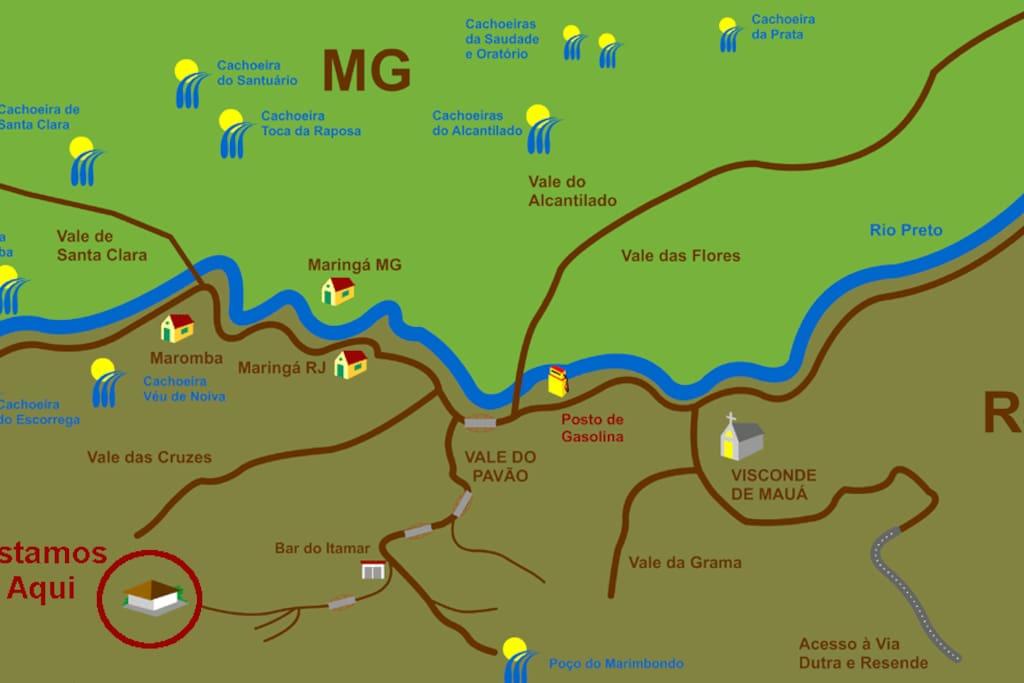 Mapa: Como chegar