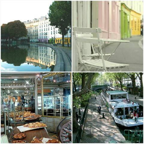 Romantic and luxurious flat at Canal Saint Martin - Paříž