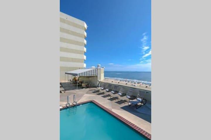 *Beach Quarters Resort- Oceanfront studio