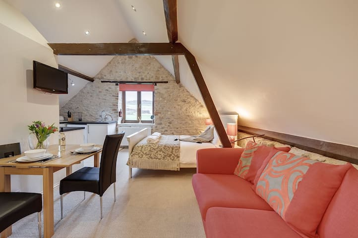 Open plan loft living in stunning Devon countryside with onsite spa