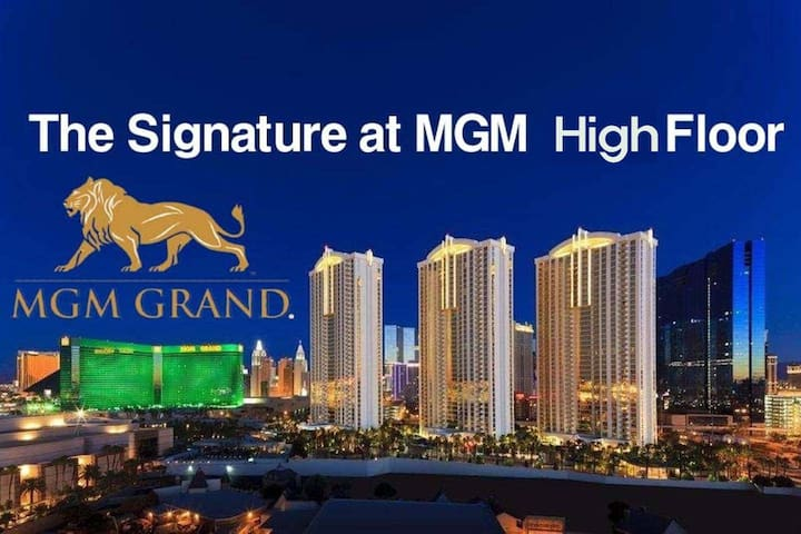 The Signature at MGM Grand high floor amazing view