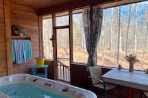 Enjoy the Hot Tub on the Screened in Porch