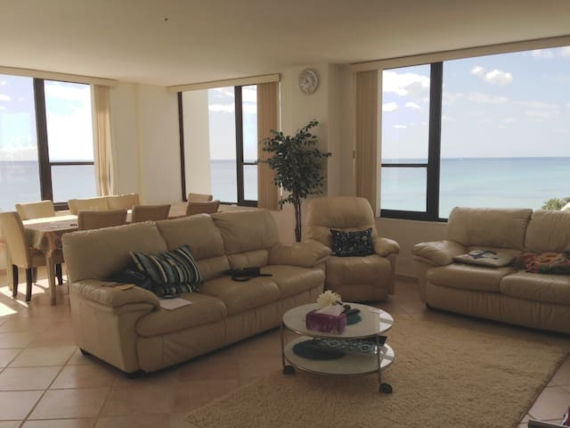 Oceanfront southeast best-line ninth floor corner unit