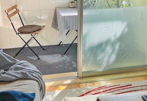 {北欧奢野一居}Ideal home【中山公园站】2、3、4号线/近愚园路/50寸网络电视/乳胶床垫