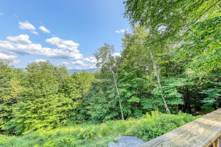 Lovely Dog-friendly mountain home w/private sauna & mountain/ forest views!