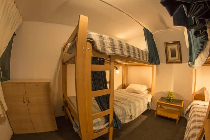 Ruta Alterna. Bed in shared Room.