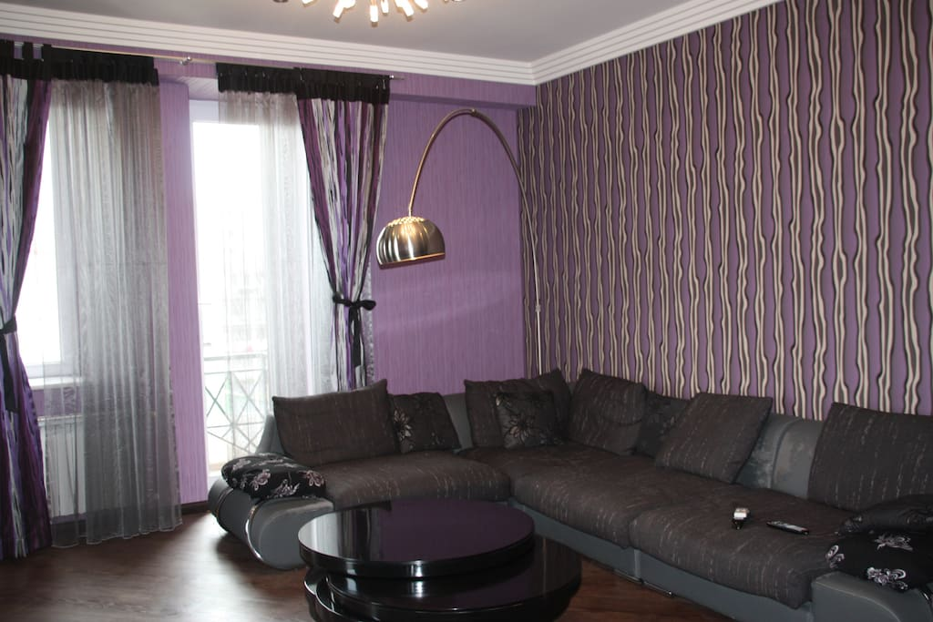 The living room with huge cosy sofa