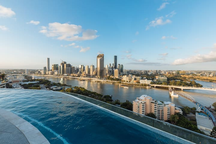 ☆Ct + River Views☆ 1 bed apt @ SouthBank location