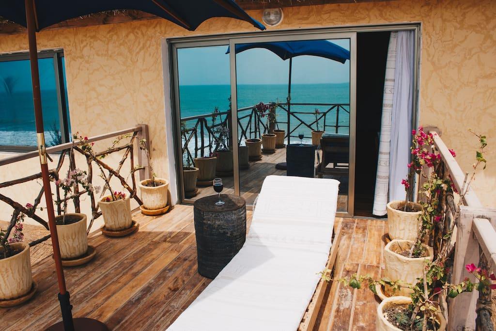 Balcon privatif sur l'océan