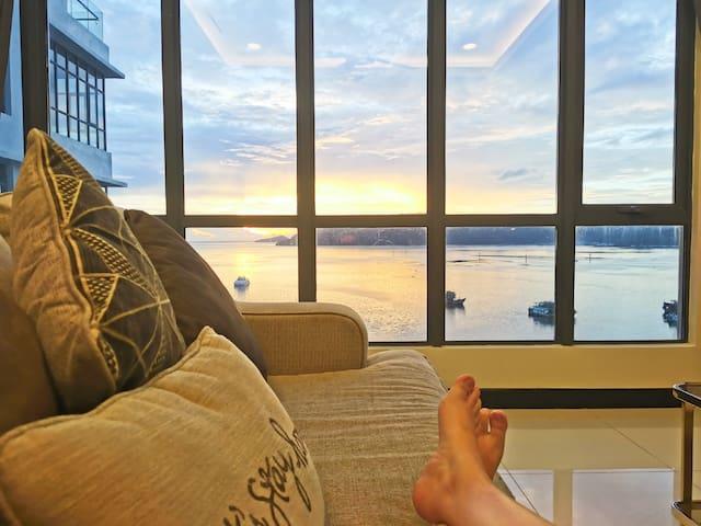 《Adorè》MySuite Seaview Waterfront亚庇市中心海景3房高级公寓