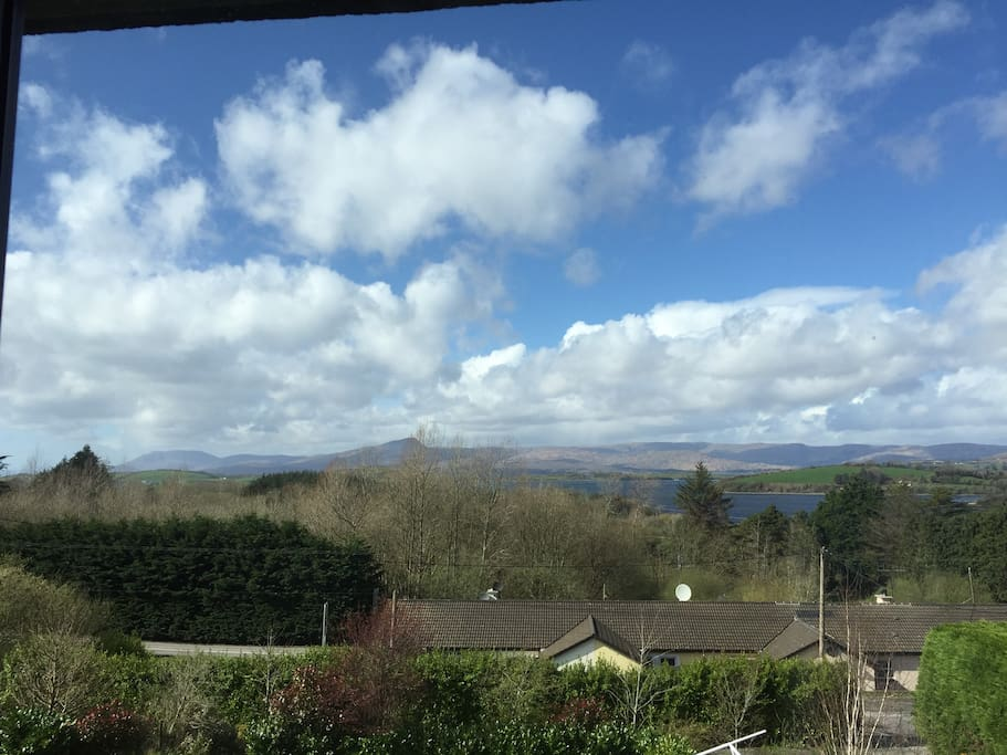 View of Bantry Bay and surrounding mountains from the bedroom