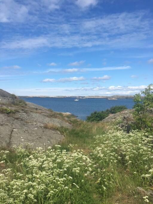 view towards Flatholmen from Klädesholmen Strandvägen