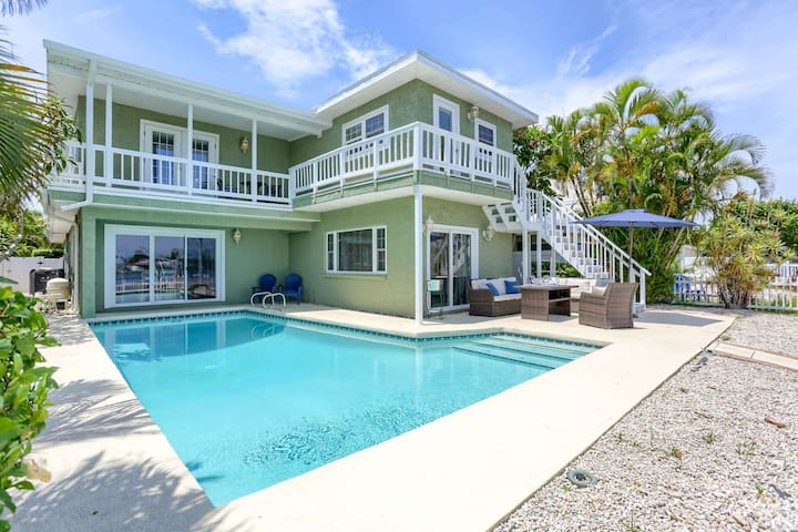 Spectacular Waterfront Home Near Beach!  Private Pool and Boat Dock–Salty Sunrise, Indian Rocks