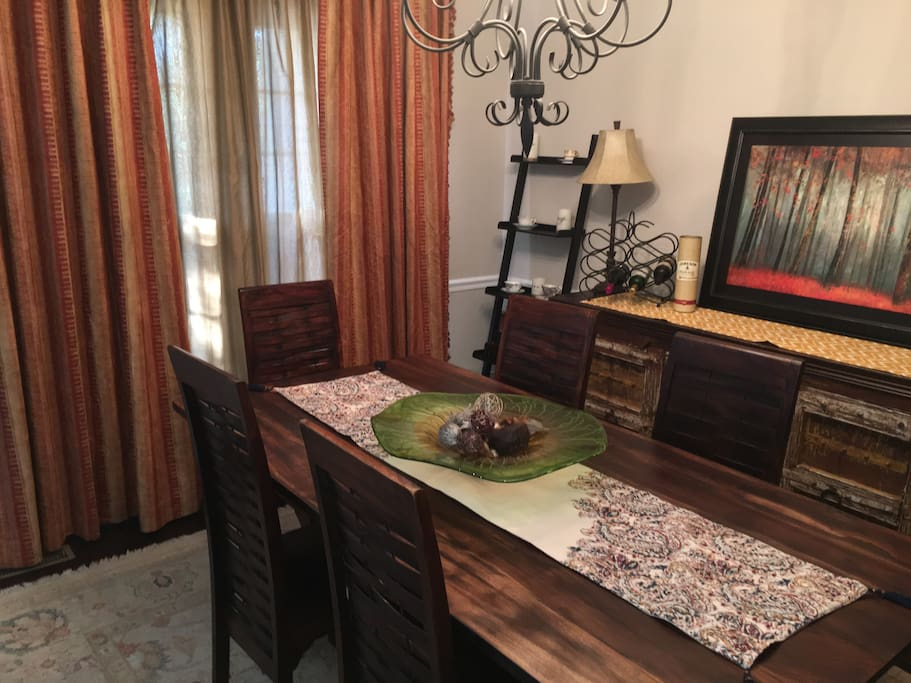 Large dining room, also suitable for workspace/office. This is a shared space in the home.