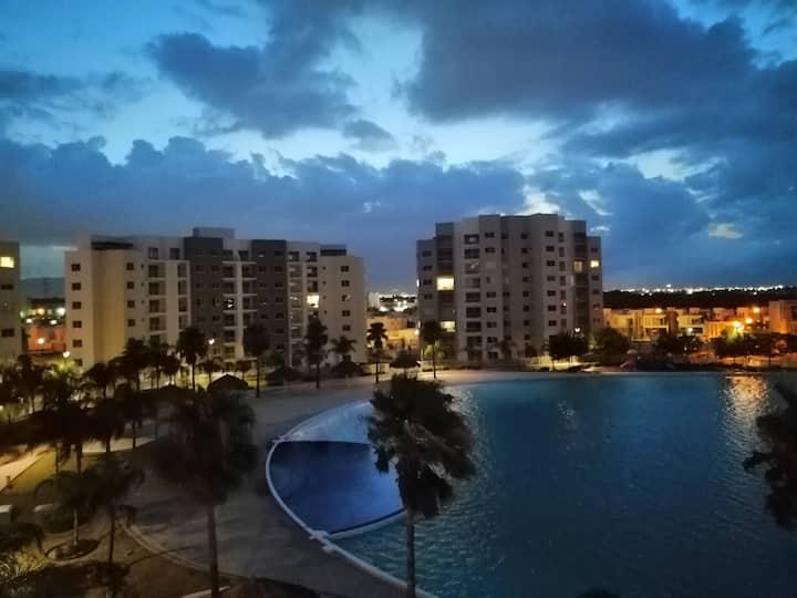 Apartamento lago aqua en dreams lagoons Apodaca NL