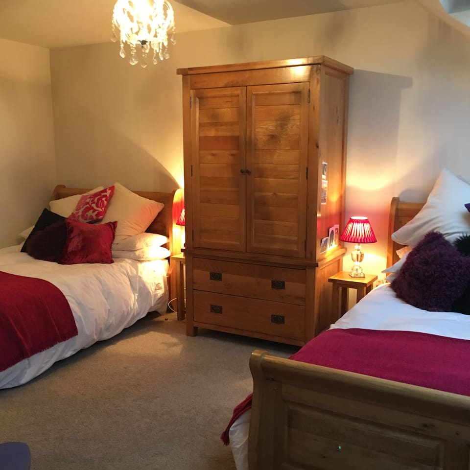 Spacious , warm and comfortable , modern room ...  with quality furnishings ...