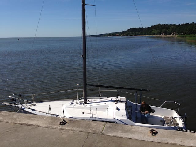 Maxi77 sailboat in Nida yacht harbor for rent