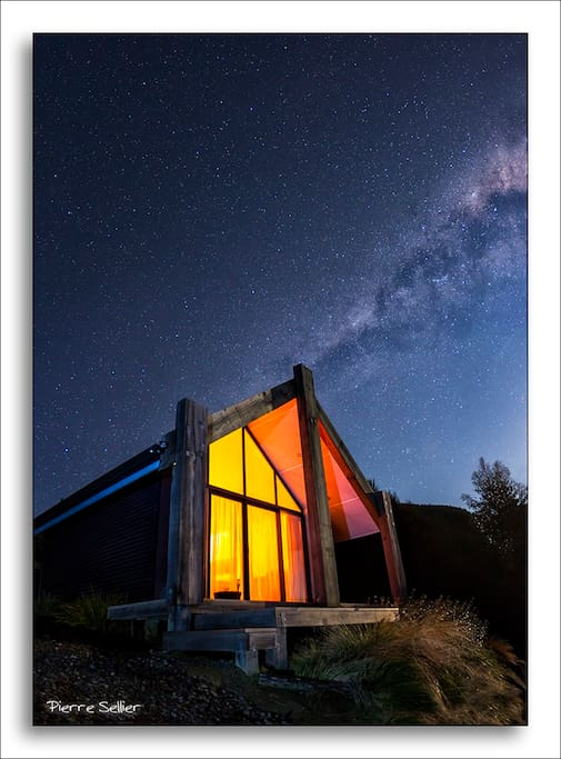 The night sky can be spectacular above 'the Whare'.