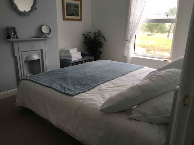 Bedroom in terraced house with fantastic view