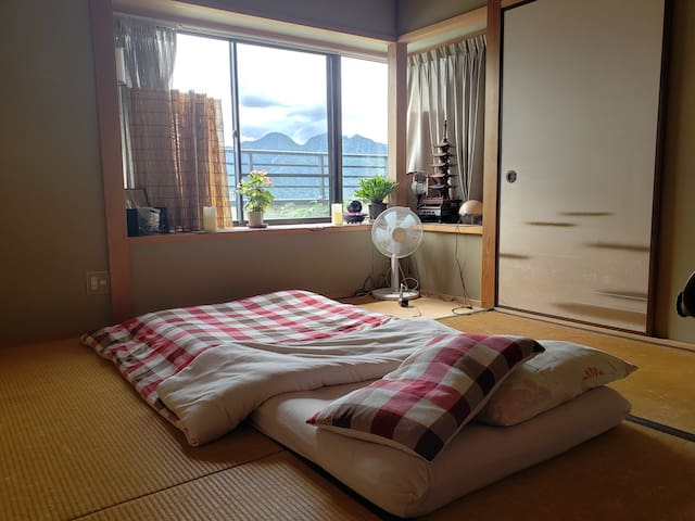 2nd floor tatami room. This room fits two guests. If you would like to guarantee a tatami room, please see my tatami style room listing.