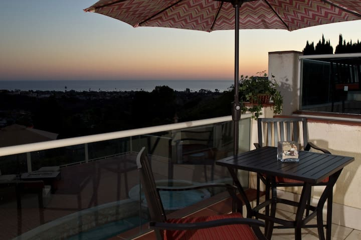 Sunset from your private balcony.
