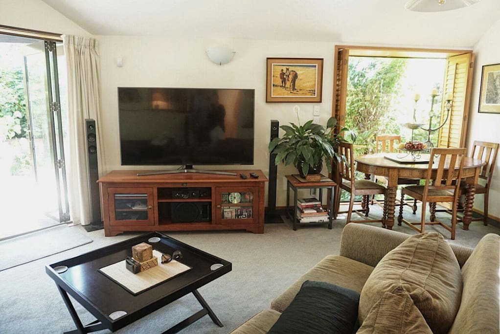"""Family Room with 60"""" TV"""