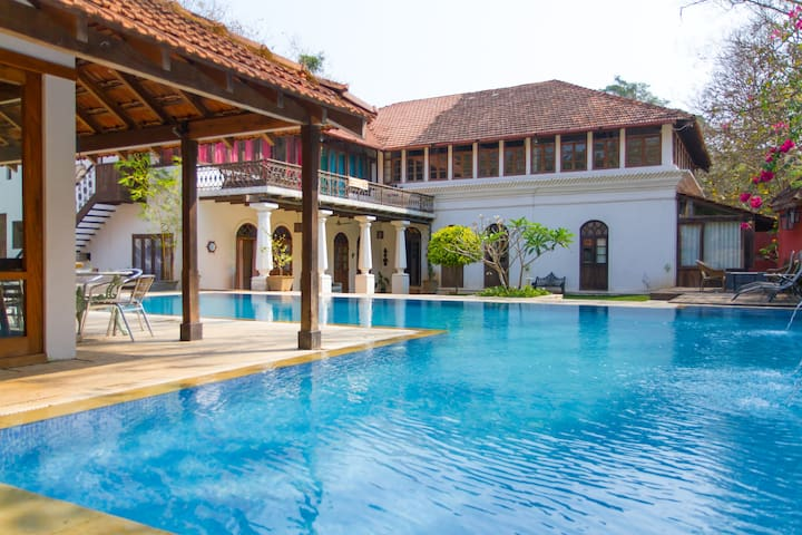 Cinnamon suite at BirdSong, Portuguese Villa, Goa