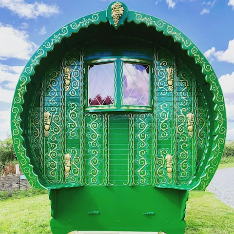 Romantic Gypsy Caravan on luxury glamping site
